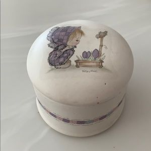 Hallmark Betsey Clark covered candle holder.